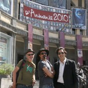 Федерико Витали, Вреж Касуни и Борсу Хайсон на фестивале «РеАнимания-2010″